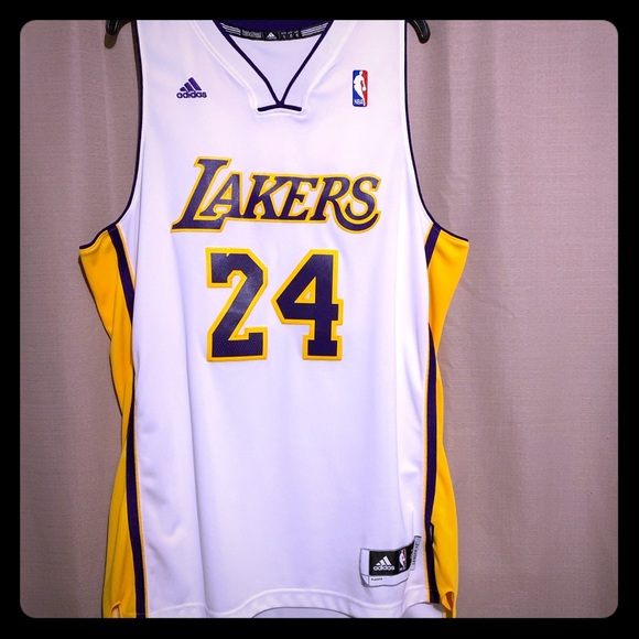 Kobe Bryant 24 authentic white jersey